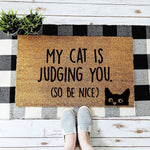 My Cat is Judging You Doormat - Urban Owl