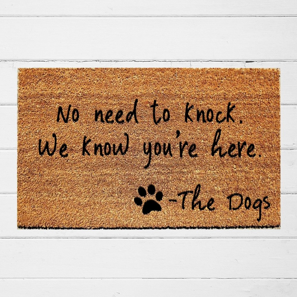 No Need to Knock, We Know You're Here Doormat - Urban Owl