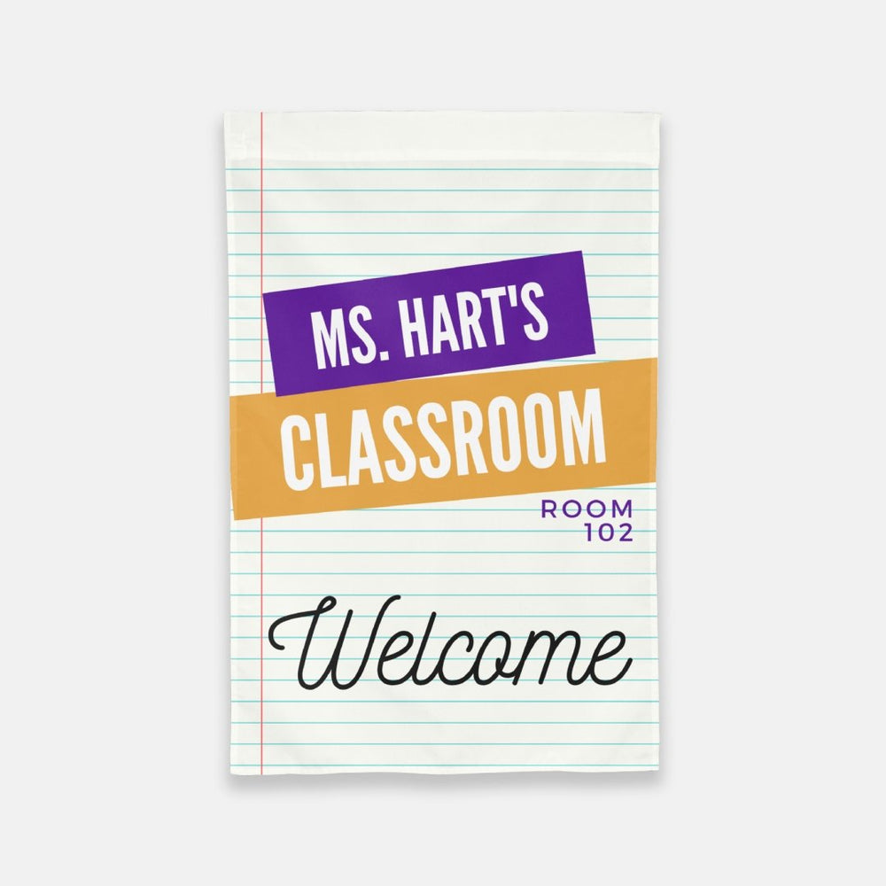 Personalized Classroom Flag - Urban Owl