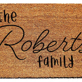 Personalized Family Doormat - Urban Owl