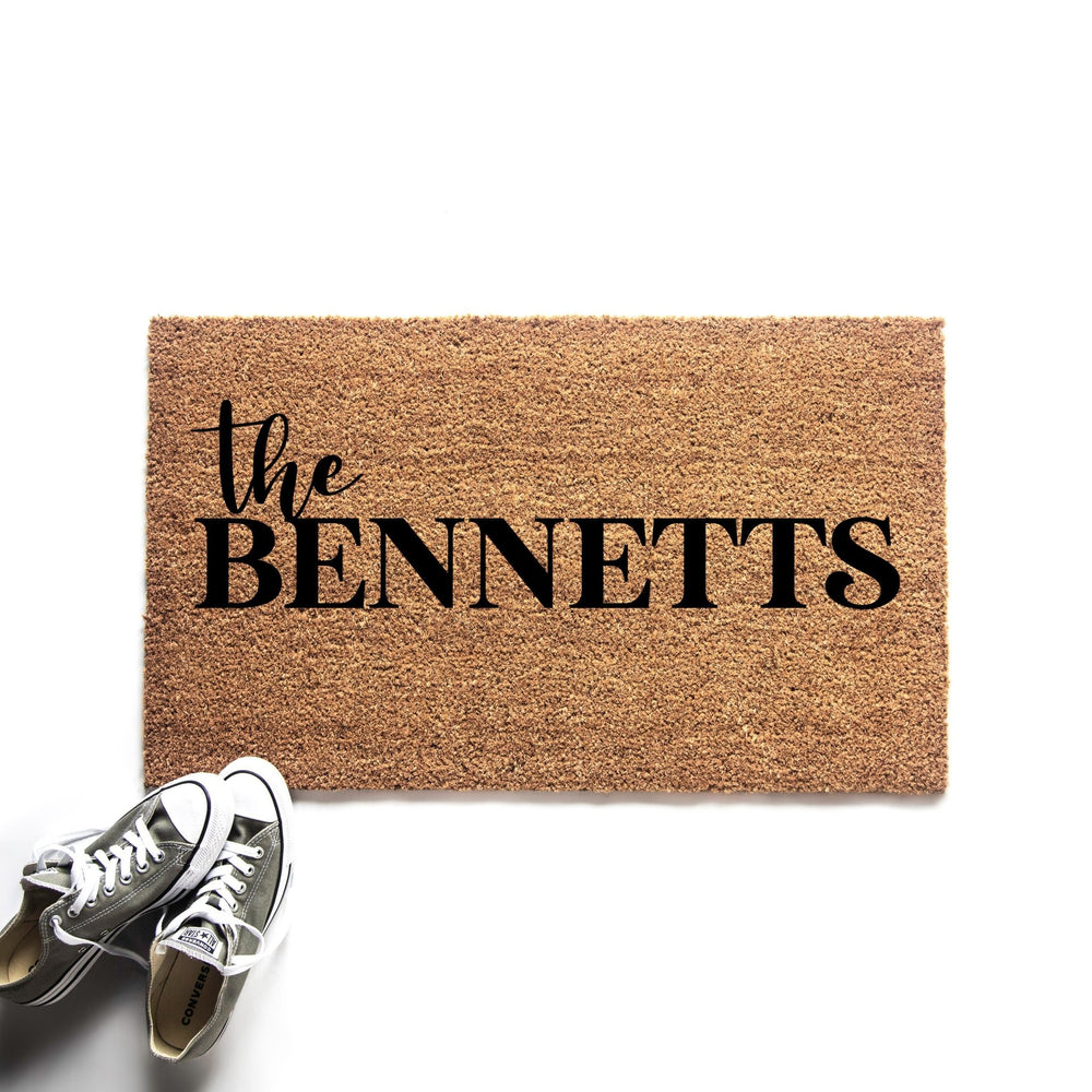 Personalized Family Last Name Doormat