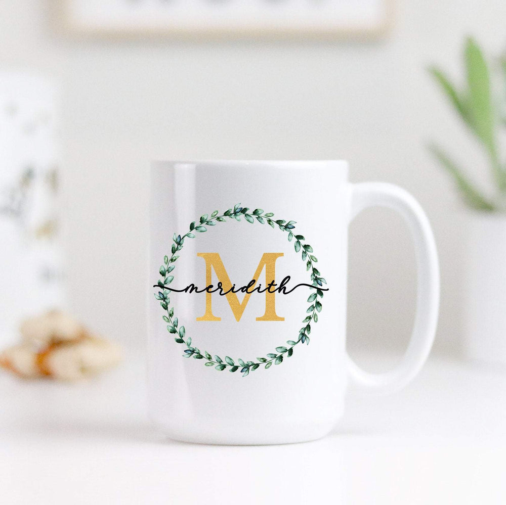Personalized Monogram Coffee Mug - Urban Owl