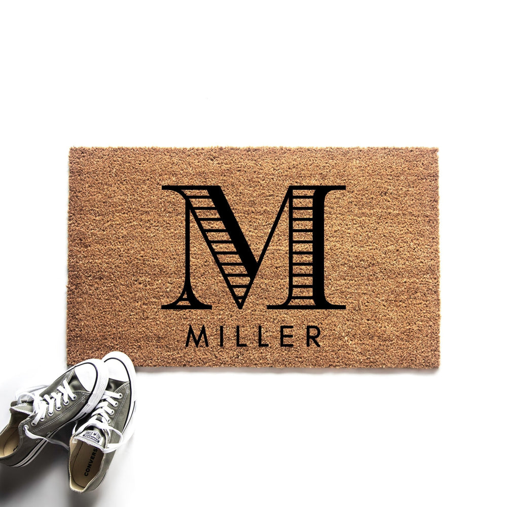 Personalized Monogram Initials and Last Name Doormat