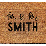 Personalized Mr. & Mrs. Doormat - Urban Owl