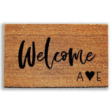 Personalized Welcome Doormat with Initials - Urban Owl