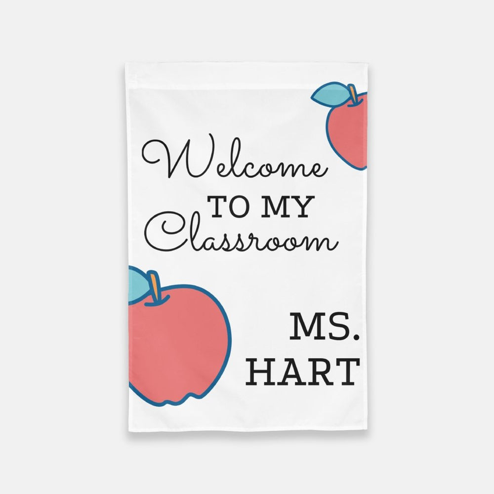 Personalized Welcome to My Classroom Flag - Urban Owl