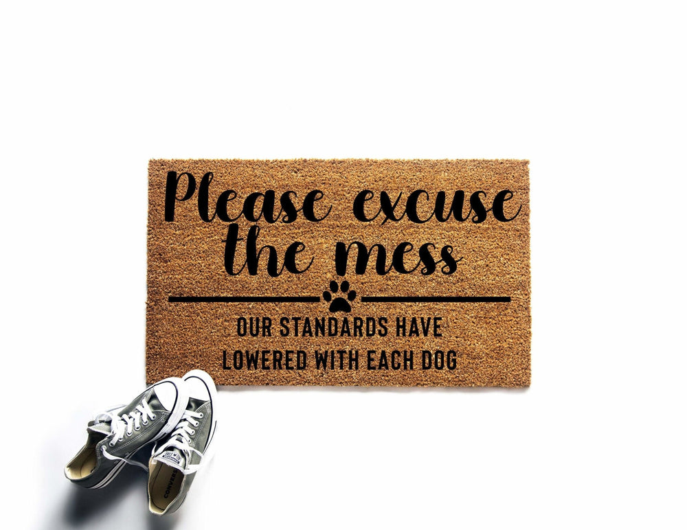 Please Excuse the Mess Dog Doormat - Urban Owl