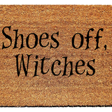 Shoes Off, Witches Doormat - Urban Owl Co