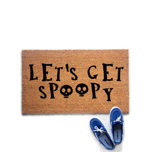 Lets Get Spoopy Halloween Doormat - Urban Owl Co