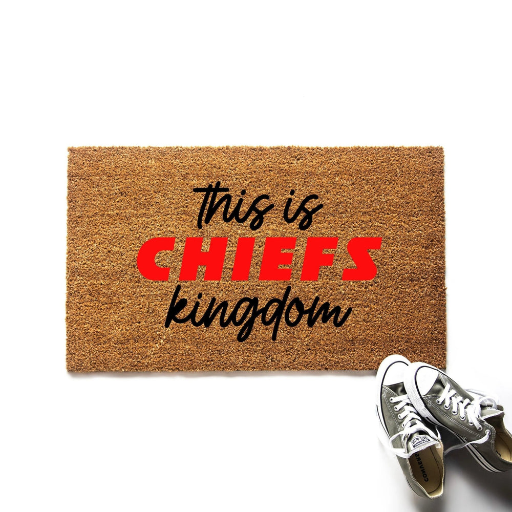 This is Chiefs Kingdom Kansas City Chiefs Doormat