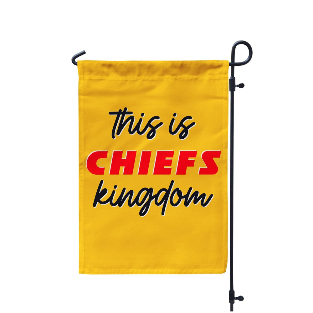 This is Chiefs Kingdom Kansas City Chiefs Garden Flag
