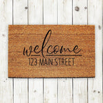 Welcome Doormat with Custom Address - Urban Owl