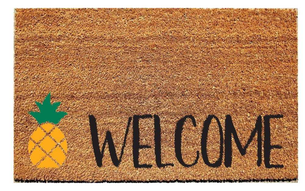 Welcome Doormat with Pineapple - Urban Owl
