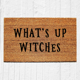 What's Up Witches Halloween Doormat - Urban Owl Co