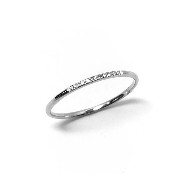 Mini Diamond Bar Ring