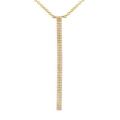 Medium Diamond Vertical Bar Necklace