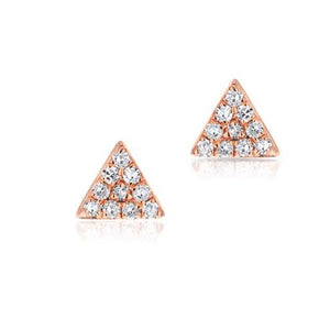 Diamond Triangle Earring