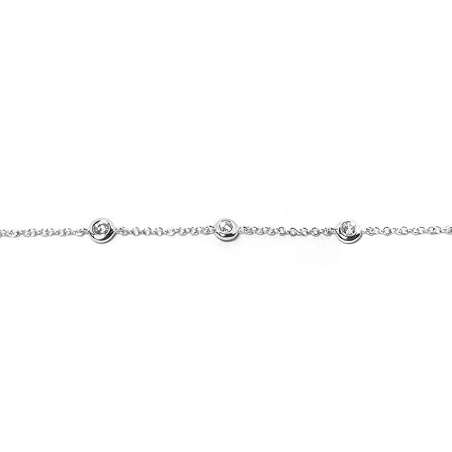 Diamond By The Yard Chain Bracelet
