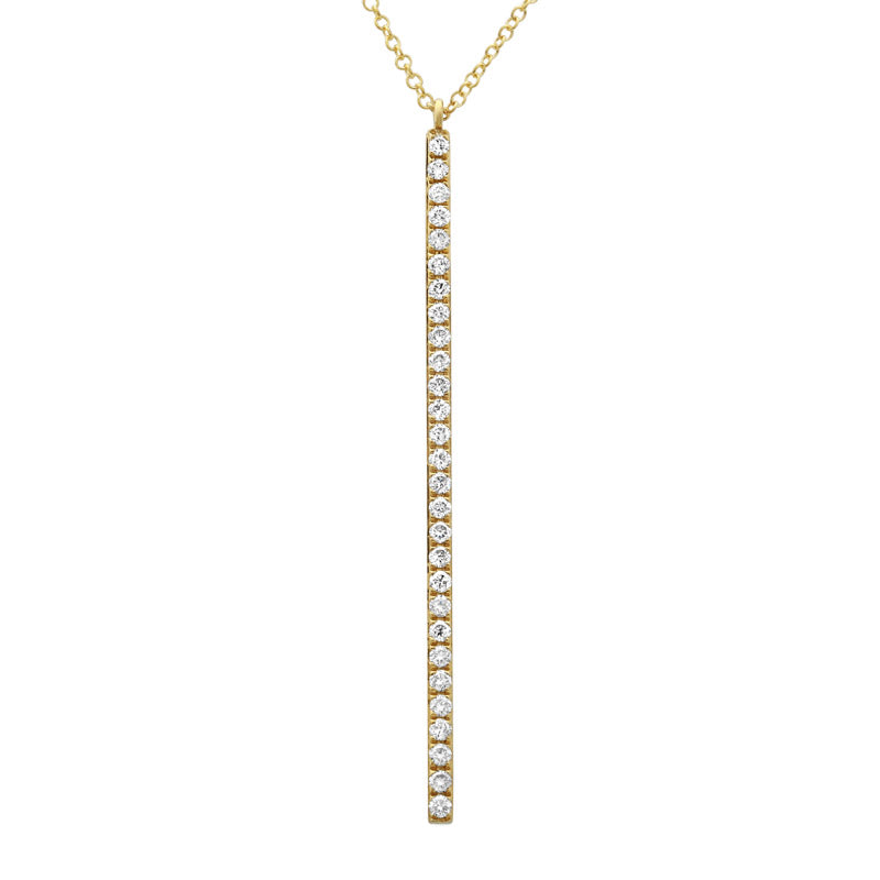 Long Diamond Vertical Stick Necklace