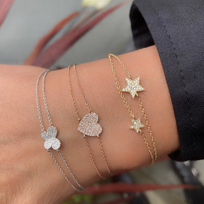 Double Chain Diamond Star Bracelet