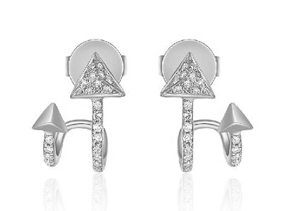Diamond Double Arrow Earring