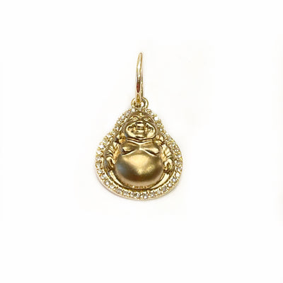 Small Gold And Diamond Happy Buddha Charm