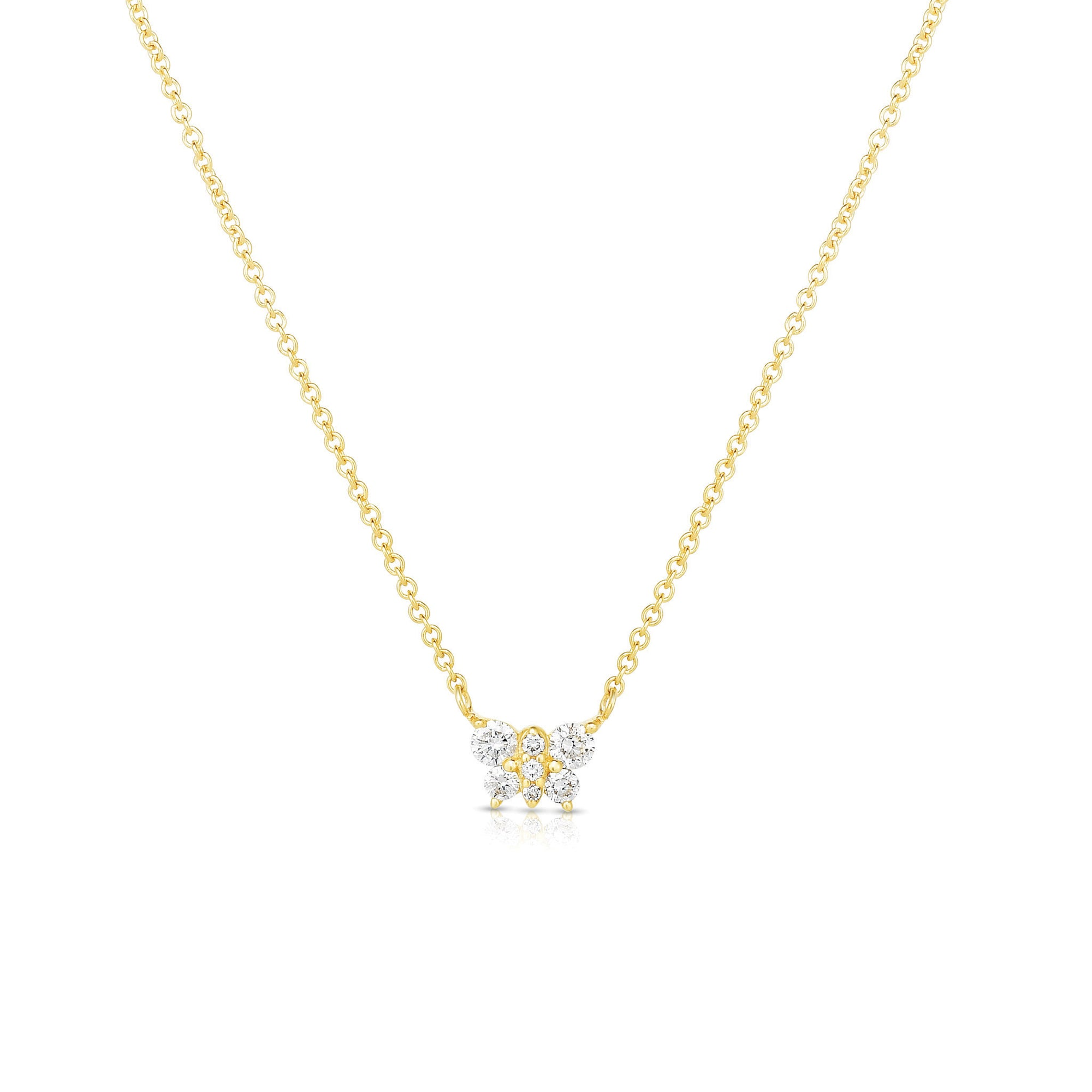 Mini Diamond Butterfly Necklace
