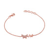 Double Butterfly Chain Bracelet