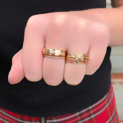 Gold And Three Baguette Diamond Ring