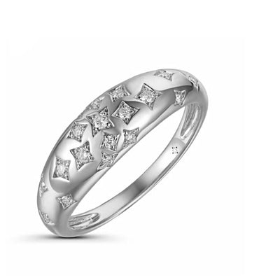 Scattered Star Diamond Ring