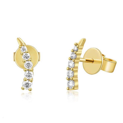 Diamond Mini Crawler Earring