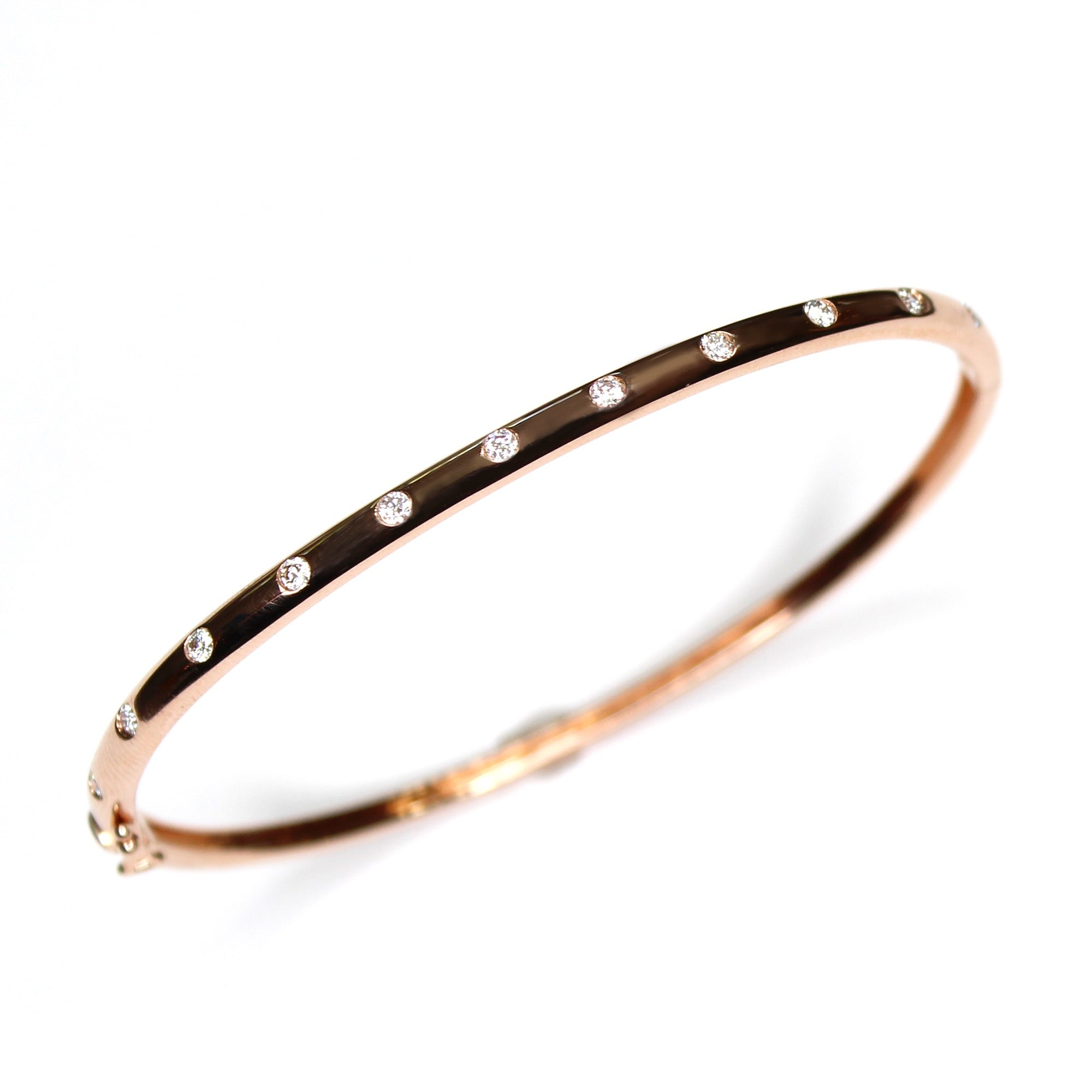 Diamond Scattered Partial Bangle Bracelet