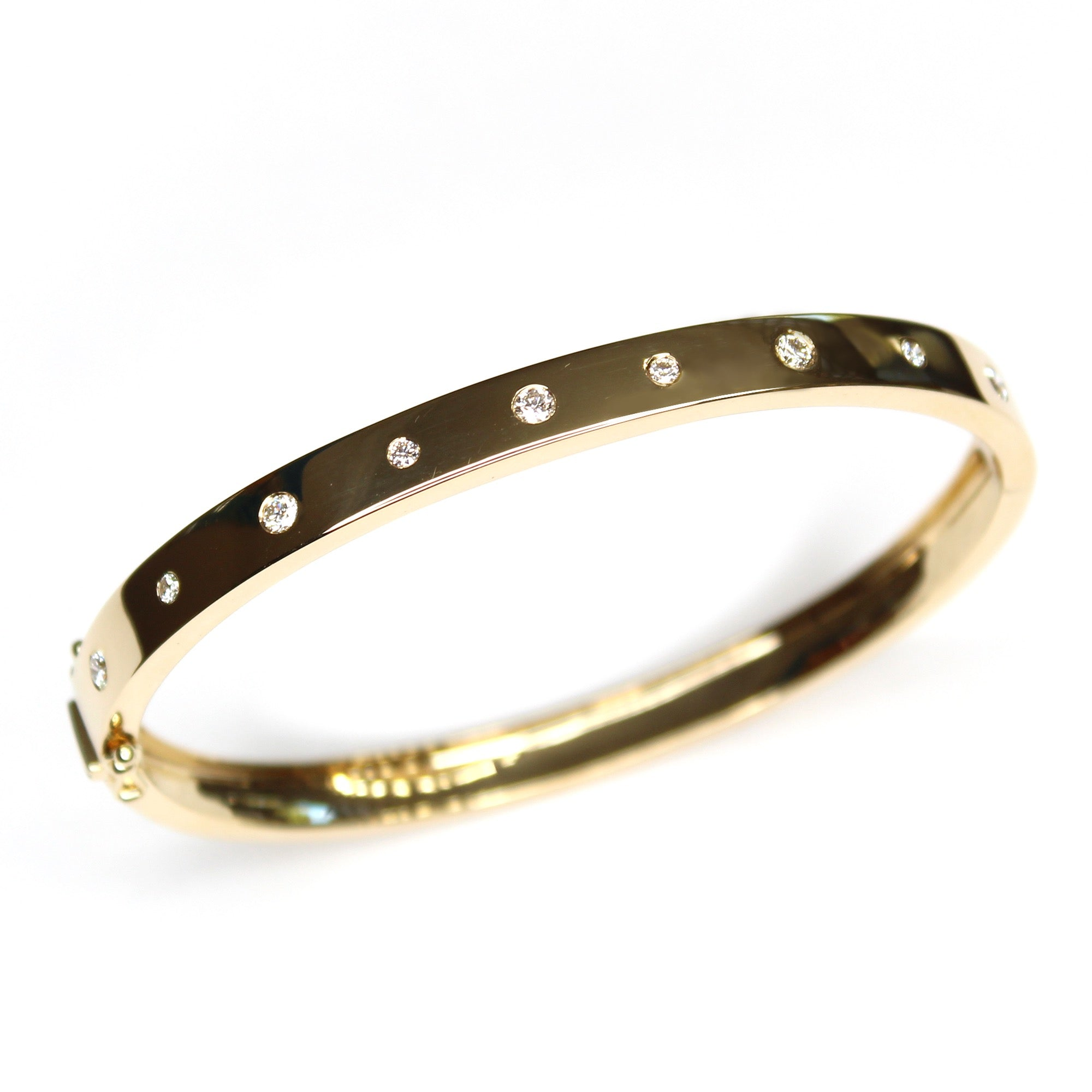 Scattered Diamond Partial Bangle Bracelet
