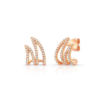 Split Diamond Huggie Earring