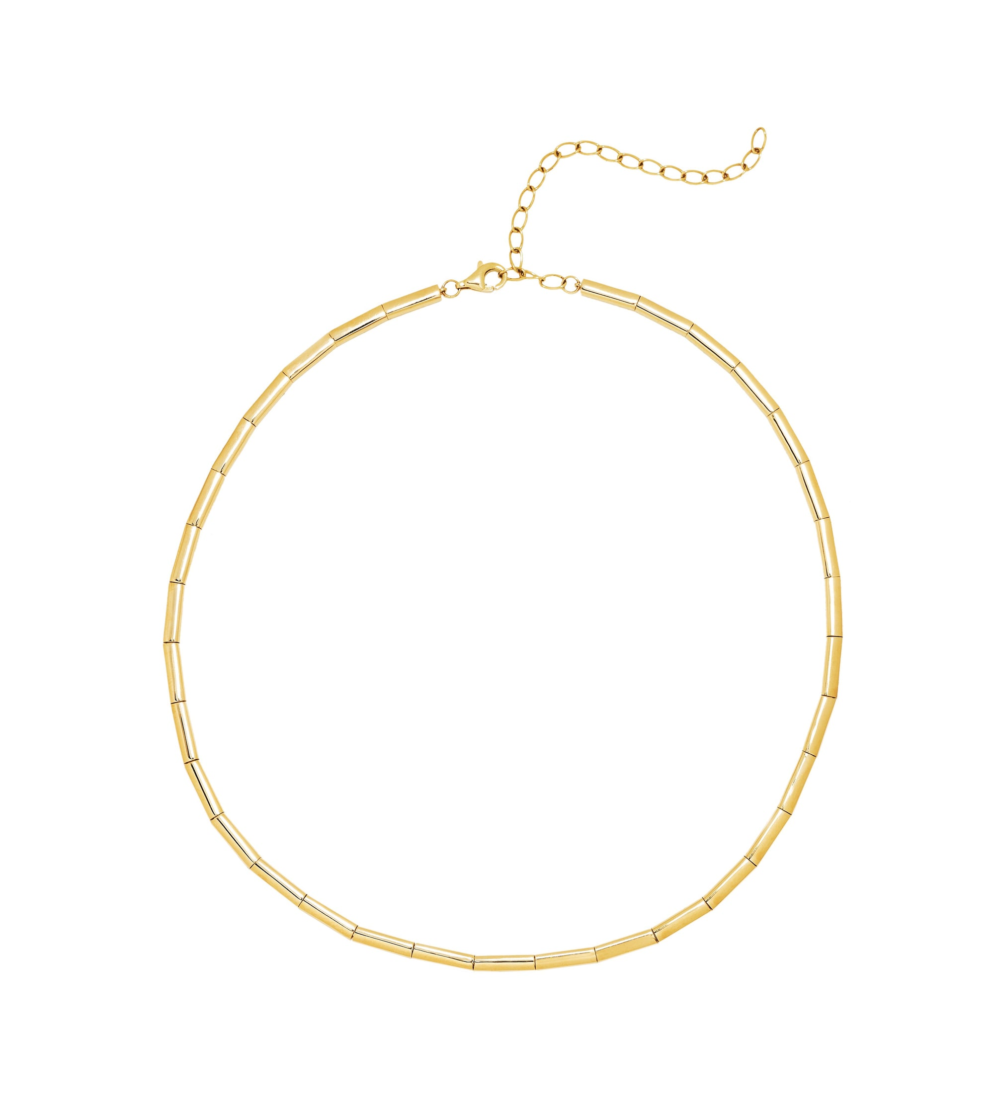 Solid Gold Choker Necklace