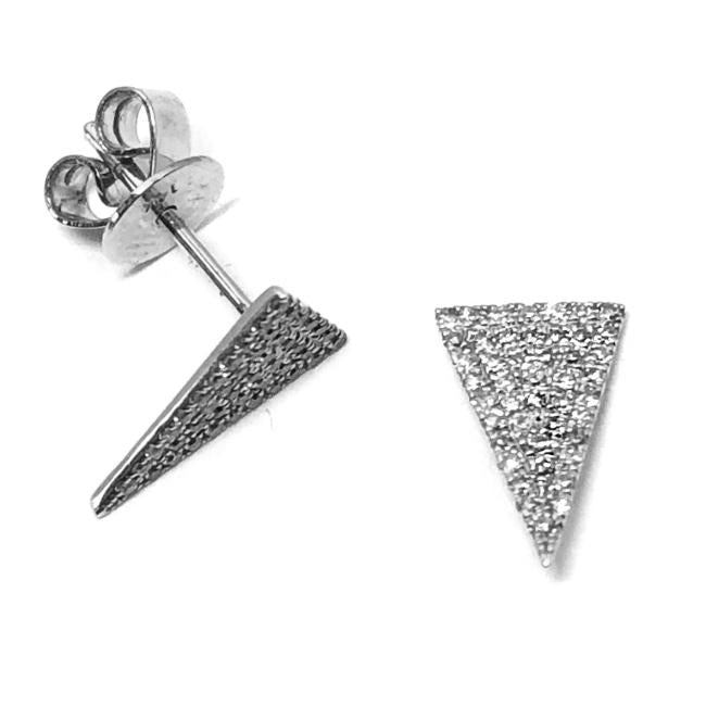 Elongated Triangle Diamond Earrings