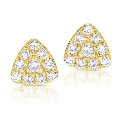 Diamond Mini Rounded Triangle Earring