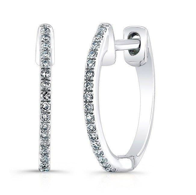 10mm Huggie Diamond Earring
