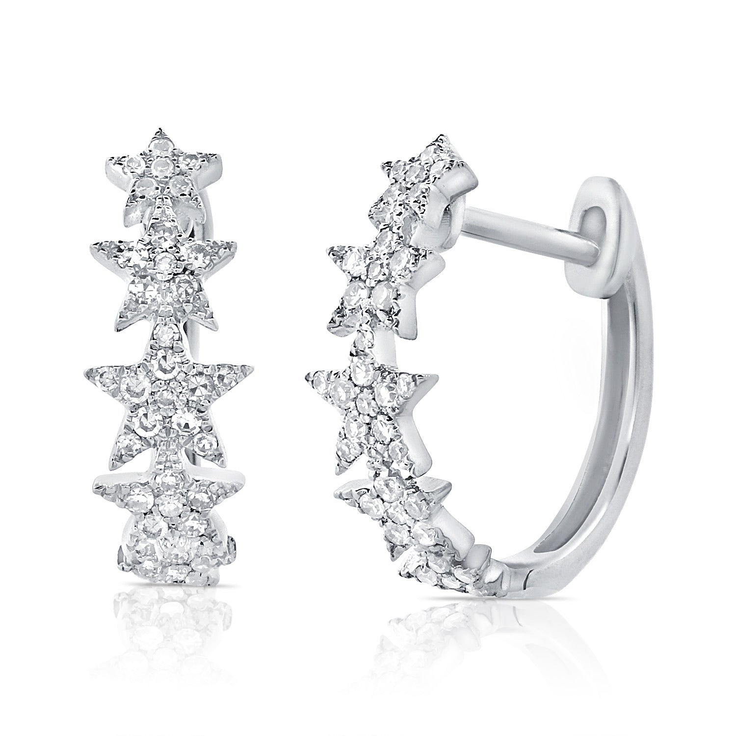 Star Diamond Huggie Earring
