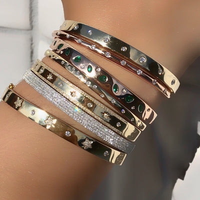 Diamond Star Partial Bangle Bracelet