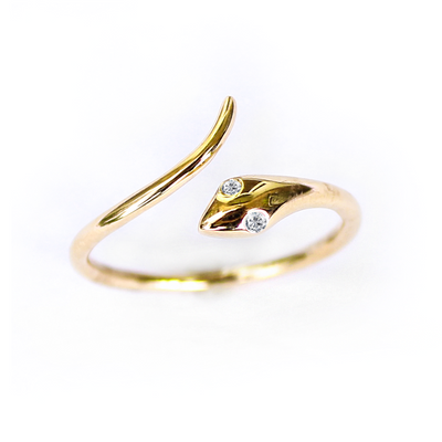 Gold Snake With Diamond Eyes