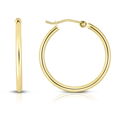 Gold Thin Hollow Hoop Earring