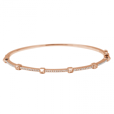 Thin Spike Diamond Bangle Bracelet