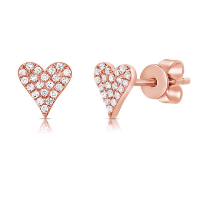 Diamond Small Elongated Heart Earring