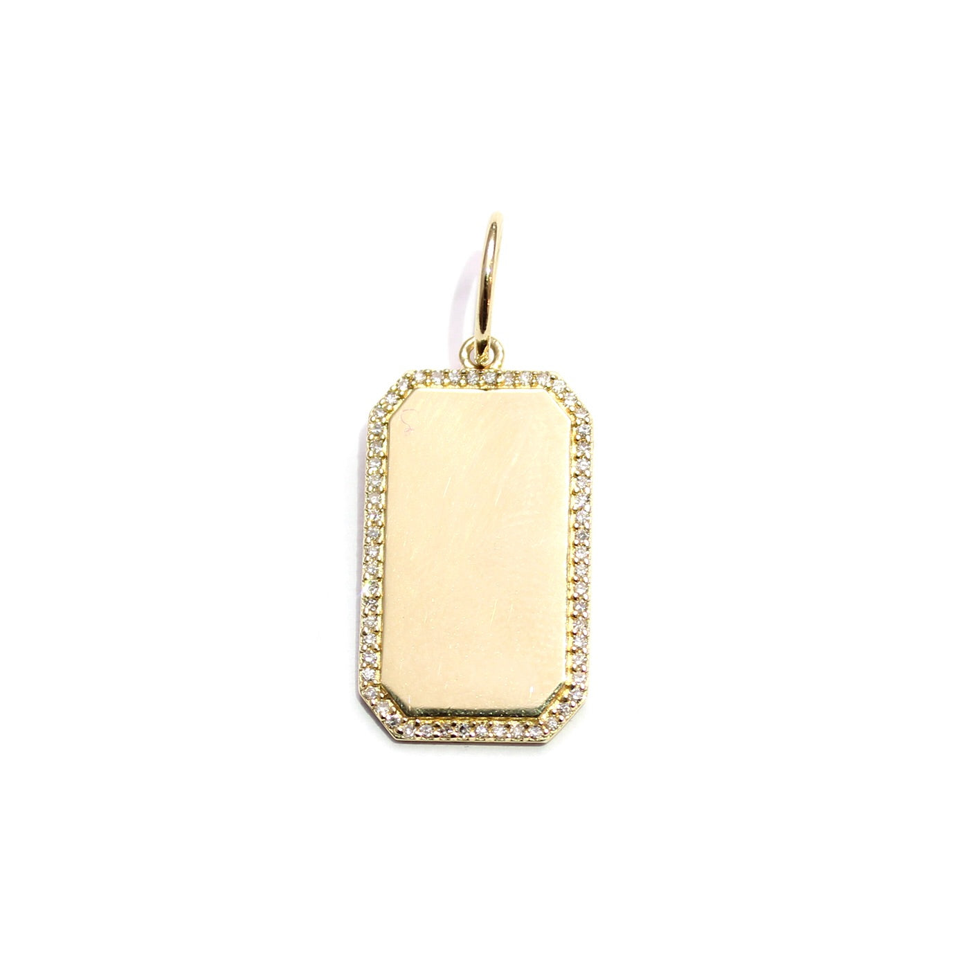 Small Rectangle Gold And Diamond Charm