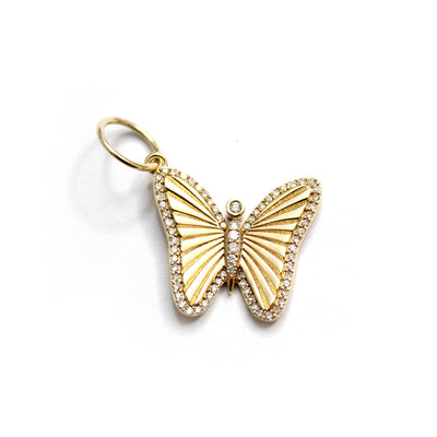 Gold And Diamond Butterfly Charm