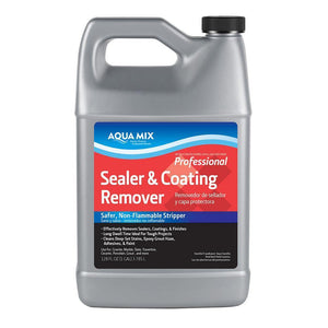 Aqua Mix Sealer and Coating Remover Safer, Non-Flammable Stripper Professional 1 Gallon
