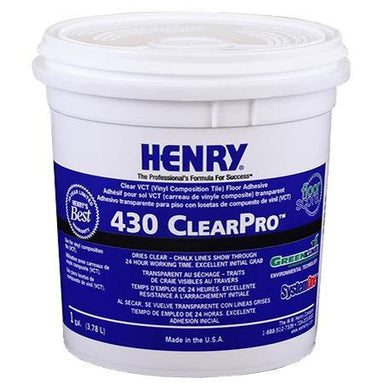 Henry, W.W. Co. H 430 GL ClearPro 12101 Thin Spread Floor Tile Adhesive 1 Gallon