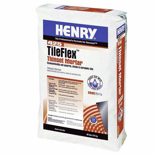 Henry, W.W. Co. H 425 12260 TileFlex Thinset Mortar Gray 40 Lbs