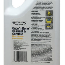 Armstrong S-338 Once 'n Done Resilient and Ceramic Floor Cleaner Concentrate 1/2 Gallon 64 oz